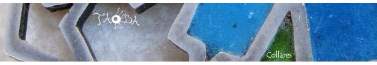 Taoba 925: collar en plata 925, piezas unicas. Joyas etnicas artesanales piedras semipreciosas:crisocola, labradorita, piedra de luna, amatista