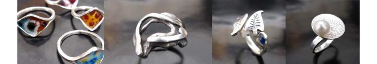 Taoba 925: bague artisanal en argent massif . Femme. bijoux Ethnique Bijoux de createur